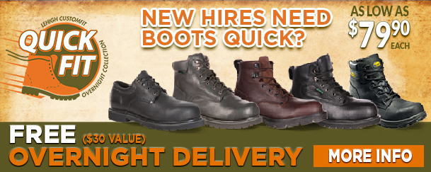 Free overnight shipping safety shoe